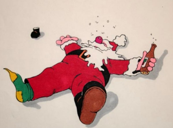 Пьяный Санта